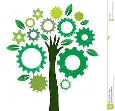 solution gears tree stock vector image 41690464