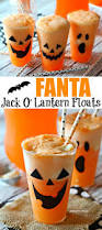 easy halloween appetizers recipes fanta jack o u0027lantern floats recipe halloween parties