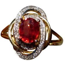 com red rings images Songea sapphire ring diamonds 14k gold sapphire rings flashopal jpg