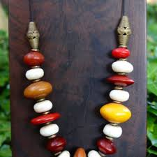 resin bead necklace images Best large red bead necklace products on wanelo jpg