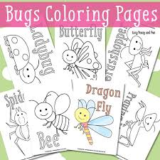 bugs coloring pages kids easy peasy fun