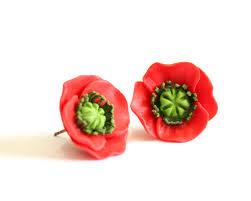 poppy earrings poppy earrings stud earrings earrings poppies
