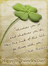 may the luck of the free blessings ecards greeting