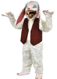 bunny costume rottentail scary white rabbit costume size on sale