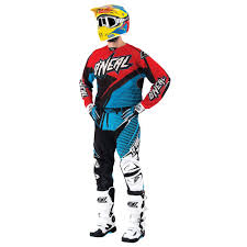 oneal motocross gear oneal 2015 hardwear flow vented jersey and pants package blue