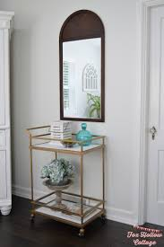 Target Wall Mirrors by Varnished Wood Corner Shelf With Black Stain Wooden Bar Unit With
