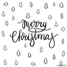 merry christmas modern merry christmas hand lettering greeting card vector illistration