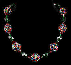 christmas light necklace bead origami christmas lights necklace