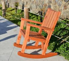 Wooden Rocking Chair Outdoor Massive Wood Rocking Chair Custom Redwood Rockers