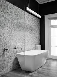 light grey hexagon tile bathroom tile ideas grey hexagon tiles contemporist brass bathroom