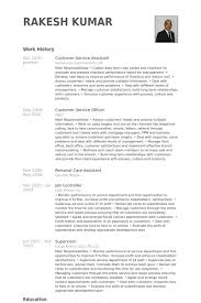 Personal Assistant Resume Examples by Customer Service Assistant Resume Samples Visualcv Resume