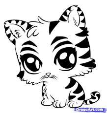 baby tiger coloring pages to really encourage to color page cool