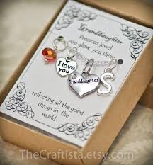 personalized granddaughter necklace with birthstone and