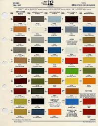 automotive color charts and codes flickr