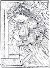 free coloring page coloring burne jones an angel playing a