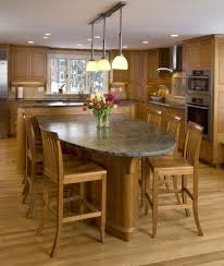 eat on kitchen island dining room fabulous all cherry wooden kitchen design featuring l