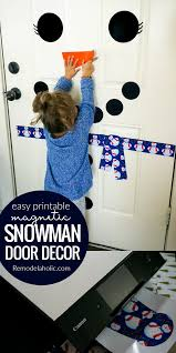 remodelaholic free printable snowman door decorating kit