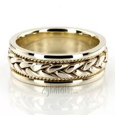 handmade wedding rings made wedding bands braided two tone wedding bands gold