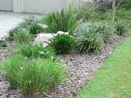 Simple Landscape Ideas by Low Maintenance Simple Backyard Landscaping House Design Using