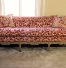 furniture french provincial sofa retro vinyl couch antique
