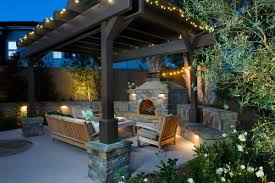 backyard fireplace binhminh decoration
