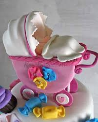 baby carriage cake bakes