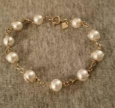 pearl bracelet ebay images Vintage sarah coventry gold tone and faux pearl bracelet sarah jpg