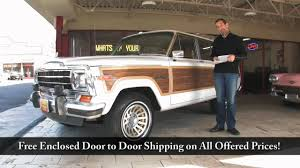 1987 jeep wagoneer interior 1988 jeep grand wagoneer for sale with test drive driving sounds
