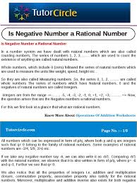 is negative number a rational number rational number fraction