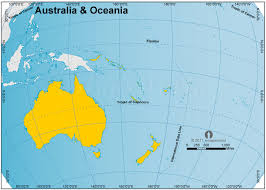 map of australia and oceania countries and capitals australia and oceania zoomed globe map zoomed globe map of