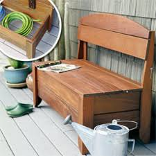 how to build a bench with hidden storage outdoor structures