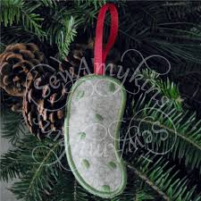 pickle ornament german pickle christmas ornament money holder machine embroidery