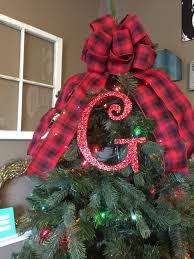 decorative 8 red monogram christmas tree topper letter