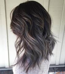 dark hair with grey streaks 40 ideas of gray and silver highlights on brown hair