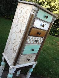 White Painted Furniture Shabby Chic by Jewelry Armoire Hand Painted Shabby Chic With By Accentbydesign