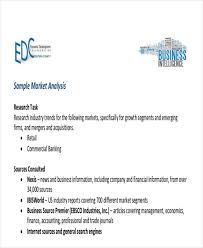 sample market analysis 9 11 example business plan service