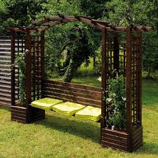 jardipolys florence garden arch with bench and planters internet