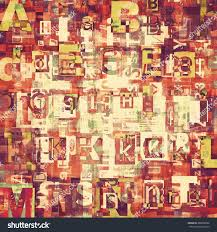 red grunge newspaper magazine collage letters stock illustration