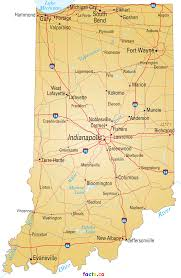 Map Indiana Indiana Map Blank Political Indiana Map With Cities