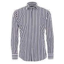 hugo boss classic mens dwayne shirt slim fit dark navy blue stripe