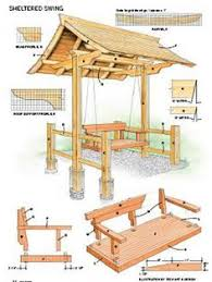 Swing Arbor Plans Project Plans Sheltered Swing Handyman Club Scout Gardening