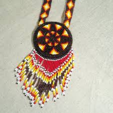 beaded medallion necklace images Beaded star necklace native american from brushcreekcottage on jpg