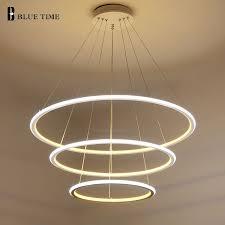 Led Pendants Lights New Modern 3 Circle Rings Led Pendant Lights For Living Room