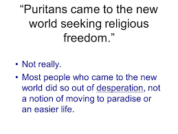 Seeking Intro The Puritans Intro To The Crucible Puritans Came To The New World