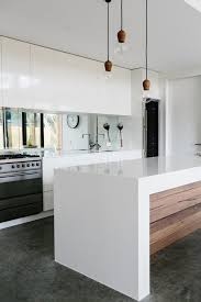 kitchen ideas melbourne waterfall edge counters will instantly give your room a more sleek