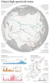 South Central Asia Map by Infographic China U0027s High Speed Rail Vision South China Morning Post