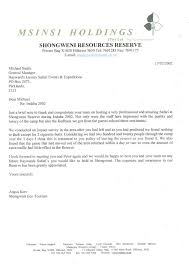 commendation letter msinsi holdings haywards luxury african
