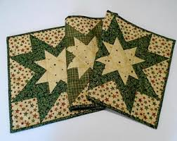 gold star table runner quilted table runner winter christmas winter stars quilted