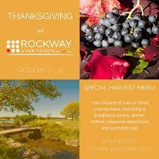 thanksgiving for two menu rockway vineyards rockwayvineyard twitter