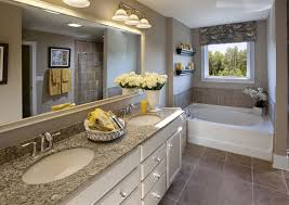 traditional master bathroom with limestone tile floors u0026 double
